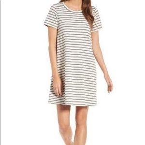 Madewell Retreat Cotton Stipe Shirt Dress